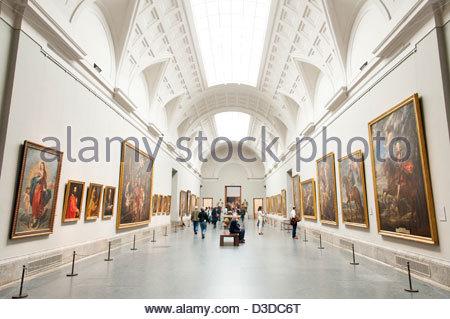 Museo del Prado art gallery, Madrid, Spain - Stock Photo