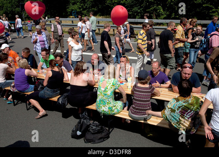 Bochum, Germany, Speed Dating on the Still Life Ruhr - Stock Photo