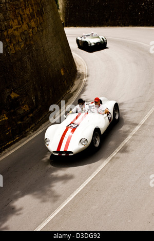 Classic cars on road, Mille Miglia car race, Italy, 2008