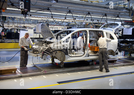 Bochum, Germany, car production at the Opel plant in Bochum - Stock Photo