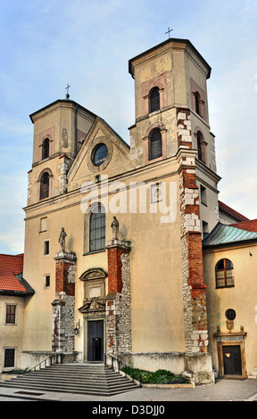 Saint Peter and Paul church in Benedictine monastery in Tyniec near Cracow, Poland - Stock Photo