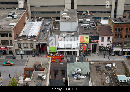 Toronto, Canada, City Facts on Yonge Street - Stock Photo