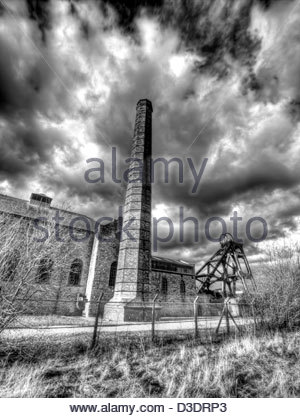 Disused colliery - Stock Photo