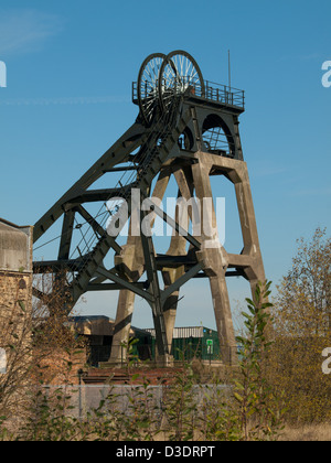Restored Headstocks at a Local Colliery site - Stock Photo