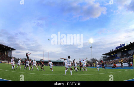 Hendon, North London, UK   Saracens v Exeter Chiefs rugby   February 16, 2013  A general view of Allianz Park at - Stock Photo