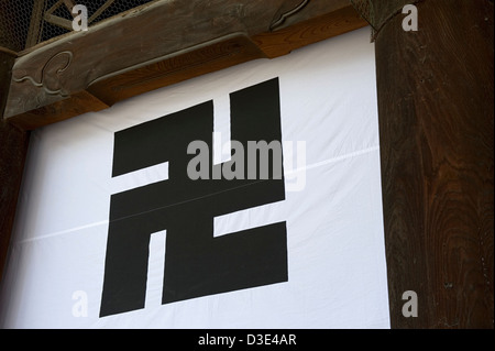 Buddhist Temple Sign With Swastika Symbol Miryang South Korea