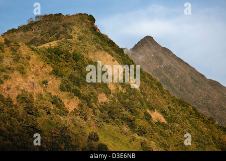 Twin ridges, Volcan Baru, Panama - Stock Photo