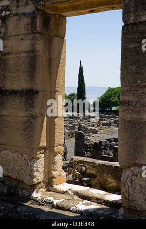 The ancient town of Capernaum played a very significant role in Jesus Christ's ministry. - Stock Photo