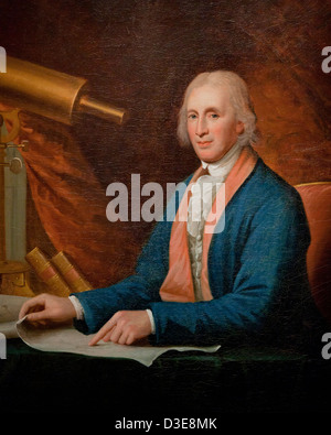 David Rittenhouse by Charles Wilson Peale, 1796 - oil on canvas - Stock Photo