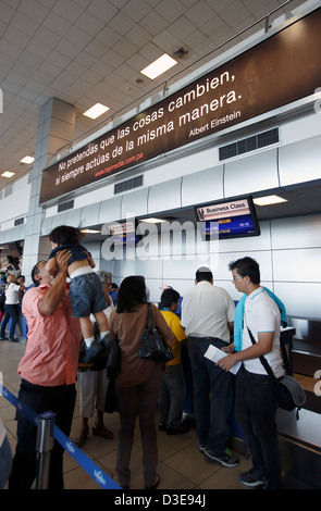 Check-in at Tocumen International Airport, Panama City, Panama - Stock Photo