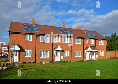 New terraced houses, High Street, Stanwell Village, England, United Kingdom - Stock Photo