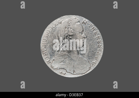 Maria Theresa Thaler, obverse side, year of minting 1780, location Ethiopia - Stock Photo