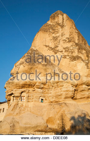 rock houses,goreme,cappadocia,anatolia,turkey,asia - Stock Photo