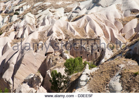 landscape in uchisar village area,cappadocia,anatolia,turkey,asia - Stock Photo