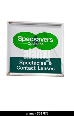 Specsavers Opticians Shop Sign - Stock Photo