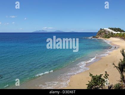 CURTAIN BLUFF BEACH,ANTIGUA - Stock Photo