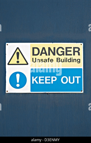 A 'Danger Keep Out' sign, UK - Stock Photo