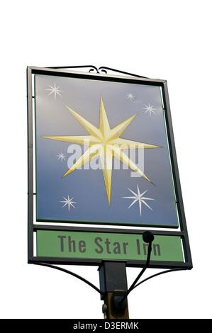 The Star Inn Pub Sign - Stock Photo