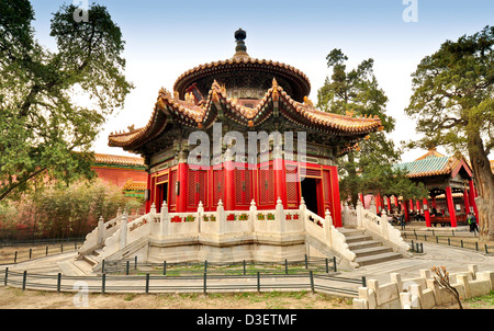 A Gazebo in the Imperial Palace Yard - Forbidden City, Beijing - Stock Photo
