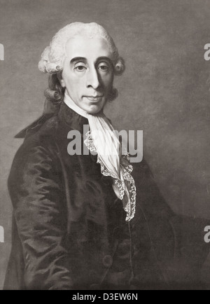 Jean-Sylvain Bailly, 1736 – 1793. French astronomer, mathematician and political leader during the French Revolution. - Stock Photo