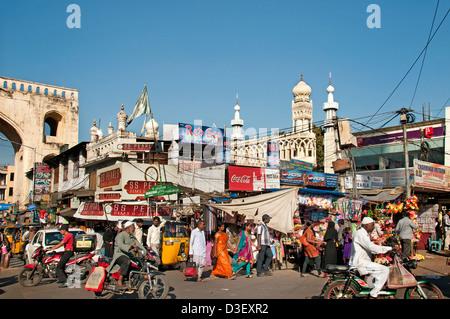 Hyderabad Andhra Pradesh India the Laad Bazaar - Stock Photo