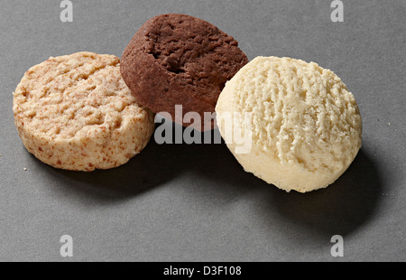 three circus cookies biscuits - Stock Photo