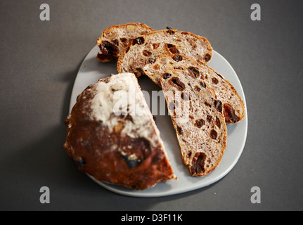 Daylesford Organic fruit bread - Stock Photo