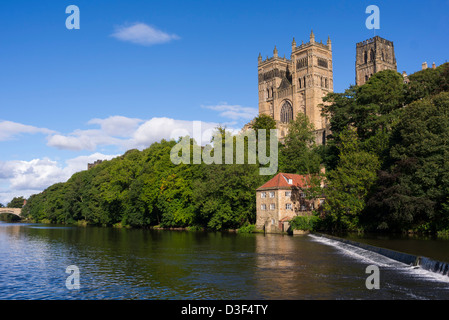 Durham Cathedral and the River Wear, Durham England - Stock Photo