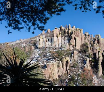 Chiricahua National Monument in winter - Stock Photo