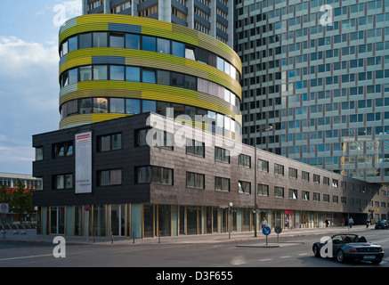 Berlin, Germany, partial view of the GSW building in Kreuzberg - Stock Photo