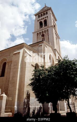 (dpa files) - A view of the Church of the Redeemer in Jerusalem, 12 May 1998. It was dedicated in 1898 in the presence - Stock Photo