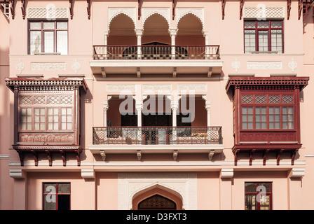 architecture in baku azerbaijan street - Stock Photo