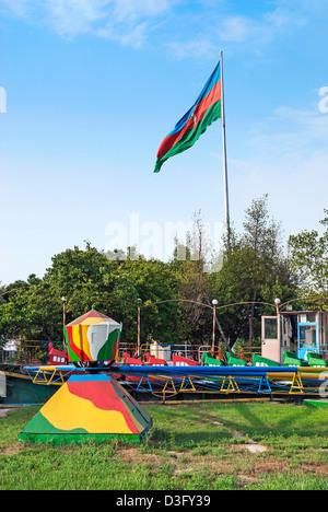 old amusement park in baku azerbaijan - Stock Photo