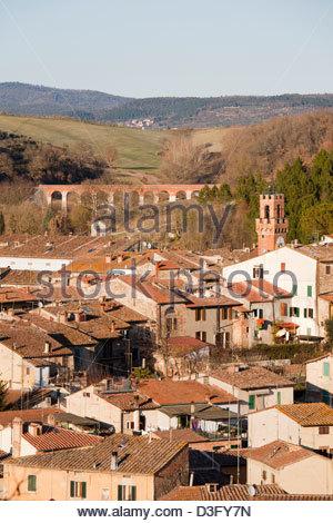 asciano,crete senesi,tuscany,italy - Stock Photo