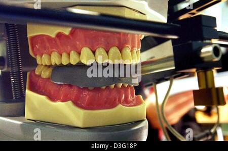 (dpa) - A Cadiax Compact scanner, a dental scanner manufactured by Girrbach Dentalsysteme, scans electronic 3D images - Stock Photo