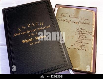 (dpa files) - A restored original manuscript of Johann Sebastian Bach's cantata 'Christ, unser Herr, zum Jordan - Stock Photo