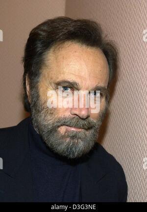 (dpa) - Italian actor Franco Nero pictured in Hamburg, 21 February 2003. He came to Hamburg to promote his latest - Stock Photo