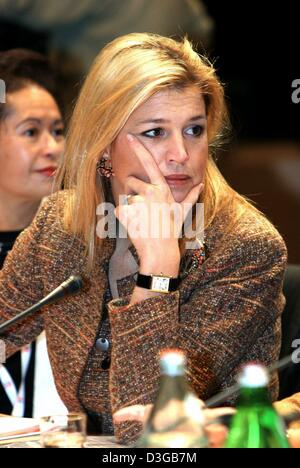 (dpa) - Crown Princess Maxima of the Netherlands attends a conference regarding integration policies in Groningen, - Stock Photo