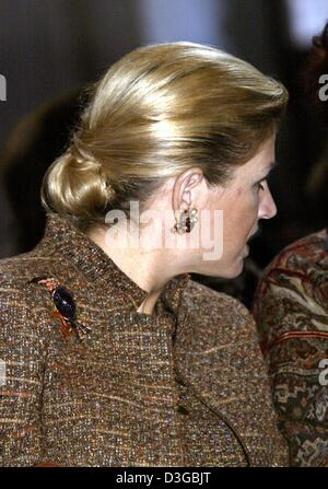 (dpa) - Crown Princess Maxima of the Netherlands attends the Erasmus awards ceremony at the Paleis op de Dam in - Stock Photo
