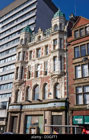 former national bank building on high street Belfast Northern Ireland uk - Stock Photo