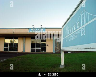 (dpa files) - A view at the company building of Bay Area Laboratory Cooperative (BALCO Labs) in Burlingame, California, - Stock Photo
