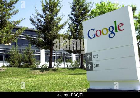 (dpa) - A view at the headquarter of the internet search engine Google in Mountain View, California, USA, 30 April - Stock Photo