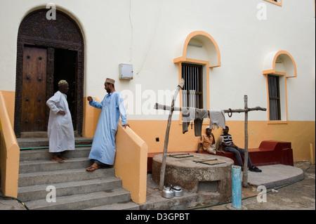 Mosque, Old Town, Mombasa, Kenya - Stock Photo