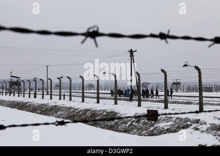 Europe Poland Auschwitz Birkenau State Museum electrified barbed ...