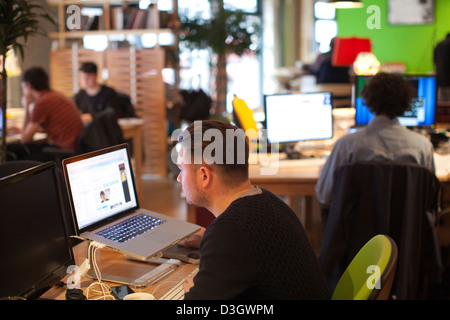 The Trampery, East London Tech City technology hub located in London, United Kingdom. - Stock Photo