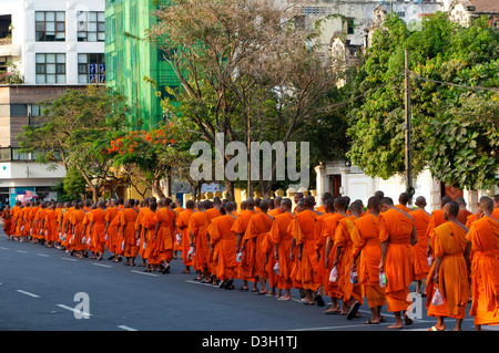 Cambodian Buddhist monks mourn the loss of King Norodom Sihanouk in Phnom Penh, Cambodia. credit: © Kraig Lieb - Stock Photo