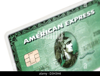 American Express classic green charge card - Stock Photo