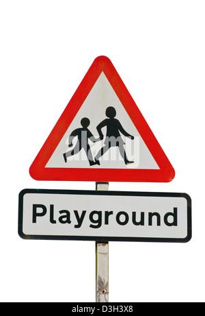 Playground UK Traffic Sign - Stock Photo