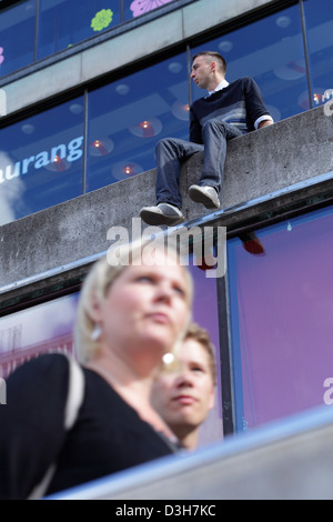 Stockholm, Sweden, young people at Sergels Torg - Stock Photo