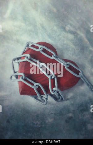 a heart in chains - Stock Photo